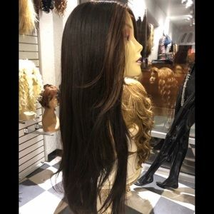 Brown Highlights Long lacefront Wig 2019 Hairstyle